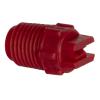 "65° Red PVDF Bex® F Series 1/4"" MNPT Spray Nozzle - Size 10"