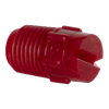 "65° Red PVDF Bex® F Series 1/4"" MNPT Spray Nozzle - Size 20"