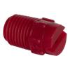 "65° Red PVDF Bex® F Series 1/4"" MNPT Spray Nozzle - Size 30"