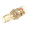 """1/8"""" Hose Barb Natural Polysulfone Male SeriesLock™ Valved Insert - Small"""