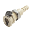 "1/4"" Hose Barb PMC Series Polypropylene Panel Mount Body - Shutoff (Insert Sold Separately)"