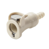 "1/4"" In-Line Hose Barb PLC Series Polypropylene Body - Shutoff (Insert Sold Separately)"