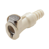 "3/8"" In-Line Hose Barb PLC Series Polypropylene Body - Shutoff (Insert Sold Separately)"