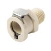 """1/4"""" MNPT PLC Series Polypropylene Body - Shutoff (Insert Sold Separately)"""