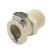 """3/8"""" MNPT PLC Series Polypropylene Body - Shutoff (Insert Sold Separately)"""