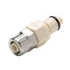 "3/8"" In-Line Ferruless PLC Series Polypropylene Insert - Shutoff (Body Sold Separately)"