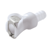 "3/8"" In-Line Hose Barb PLC Series Acetal Body - Shutoff (Insert Sold Separately)"