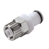 "3/8"" In-Line Ferruless PLC Series Acetal Insert - Straight Thru (Body Sold Separately)"