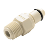 "1/8"" MNPT PMC Series Polypropylene Pipe Thread Insert - Straight Thru (Body Sold Separately)"