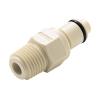 """1/4"""" MNPT PLC Series Polypropylene Insert - Straight Thru (Body Sold Separately)"""