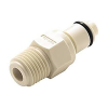 "1/8"" MNPT PMC Series Polypropylene Pipe Thread Insert - Shutoff (Body Sold Separately)"