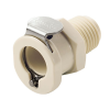 """1/4"""" MNPT PLC Series Polypropylene Body - Straight Thru (Insert Sold Separately)"""