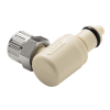 "1/4"" Ferruless PMC Series Polypropylene Elbow Insert - Shutoff (Body Sold Separately)"