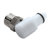 "3/8"" Ferruless PLC Series Acetal Elbow Insert - Shutoff (Body Sold Separately)"