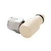"3/8"" Ferruless PLC Series Polypropylene Elbow Insert - Straight Thru (Body Sold Separately)"