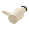 "1/4"" Hose Barb PMC Series Acetal Elbow Insert - Shutoff (Body Sold Separately)"