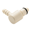 "1/4"" Hose Barb PLC Series Polypropylene Elbow Insert - Shutoff (Body Sold Separately)"