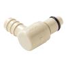 "3/8"" Hose Barb PLC Series Polypropylene Elbow Insert - Shutoff (Body Sold Separately)"