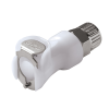 "3/8"" In-Line Ferruless PLC Series Acetal Body - Shutoff (Insert Sold Separately)"