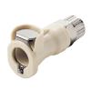 "3/8"" In-Line Ferruless PLC Series Polypropylene Body - Shutoff (Insert Sold Separately)"