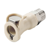 "3/8"" In-Line Ferruless PLC Series Polypropylene Body - Straight Thru (Insert Sold Separately)"