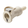 "1/4"" In-Line Hose Barb PLC Series Polypropylene Body - Straight Thru (Insert Sold Separately)"