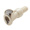 "3/8"" In-Line Hose Barb PLC Series Polypropylene Body - Straight Thru (Insert Sold Separately)"