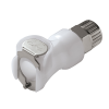 "3/8"" In-Line Ferruless PLC Series Acetal Body - Straight Thru (Insert Sold Separately)"