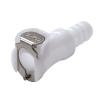"3/8"" In-Line Hose Barb PLC Series Acetal Body - Straight Thru (Insert Sold Separately)"