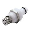 "1/4"" Ferruless PLC Series Acetal Panel Mount Insert - Shutoff (Body Sold Separately)"
