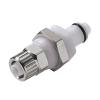 "3/8"" Ferruless PLC Series Acetal Panel Mount Insert - Shutoff (Body Sold Separately)"