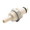 "1/4"" Hose Barb PLC Series Polypropylene Panel Mount Insert - Straight Thru (Body Sold Separately)"