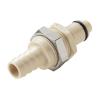 "3/8"" Hose Barb PLC Series Polypropylene Panel Mount Insert - Straight Thru (Body Sold Separately)"
