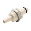 "1/4"" Hose Barb PLC Series Polypropylene Panel Mount Insert - Shutoff (Body Sold Separately)"