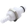 "1/4"" Hose Barb PLC Series Acetal Panel Mount Insert - Shutoff (Body Sold Separately)"
