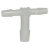 "1/4"" x 1/4"" x 3/8"" Tube ID Natural Polypropylene Reducing Tee"