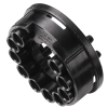 "1/8"" ID (3.2mm ID) Tentube™ Coupling Body with Female Fitting - Shutoff (Insert Sold Separately)"