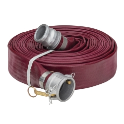 Red Heavy Duty PVC Water Discharge Hose Assemblies