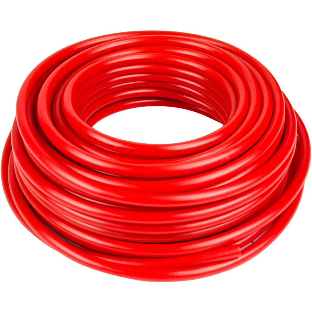 ".375"" ID x 1/2"" OD x .062"" Wall Red Tamco® RT-55D LLDPE Tubing"