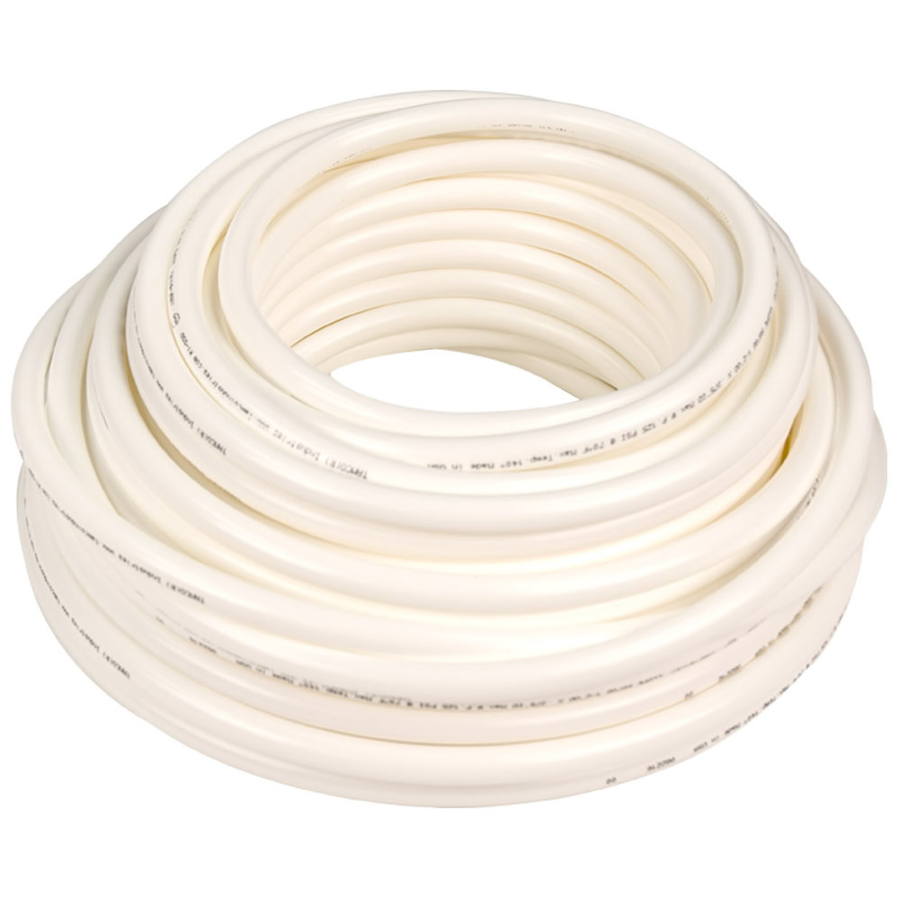 ".170"" ID x 1/4"" OD x .040"" Wall White Tamco® RT-55D LLDPE Tubing"