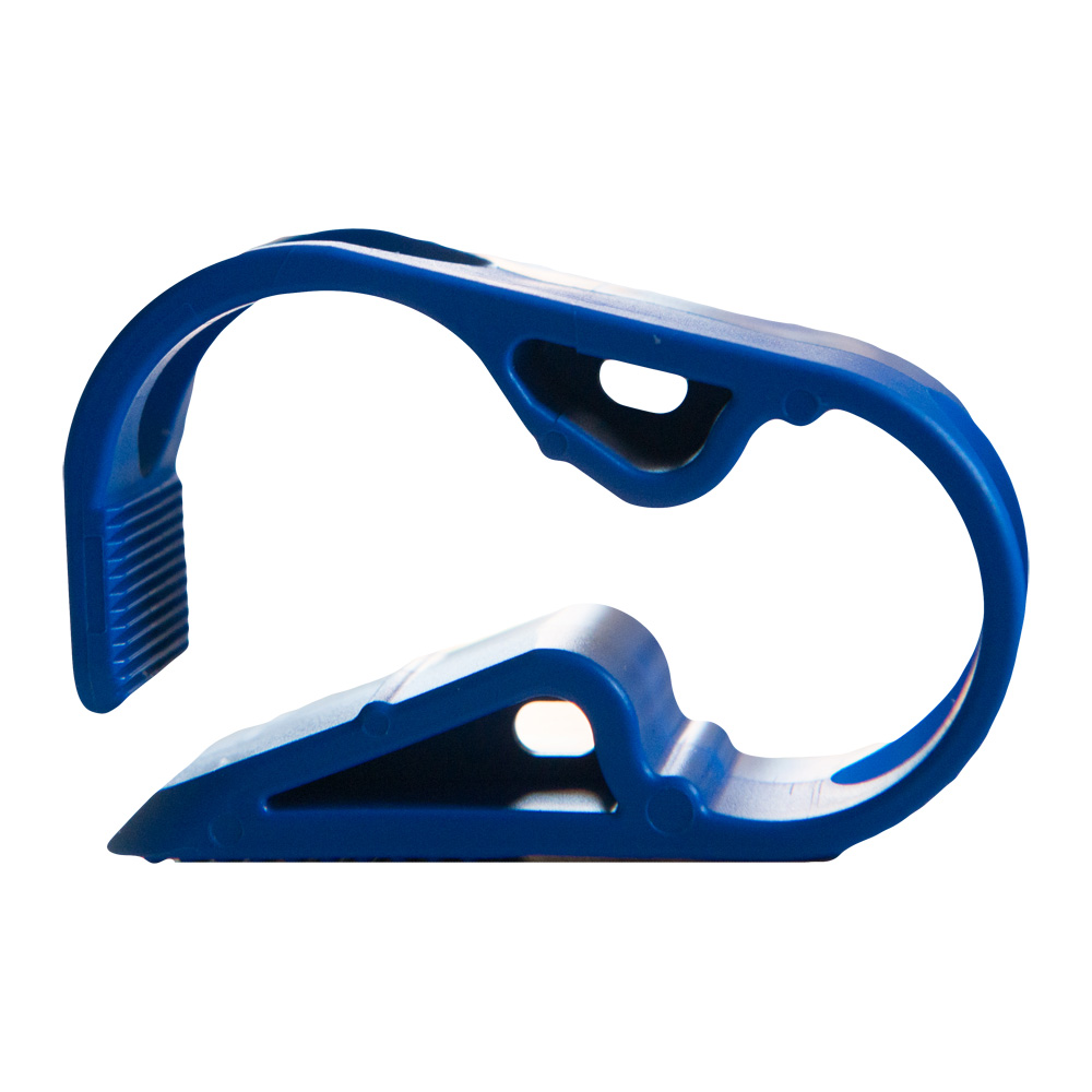 """Blue 1 Position Acetal Tubing Clamp for Tubing up to 0.25"""" OD"""