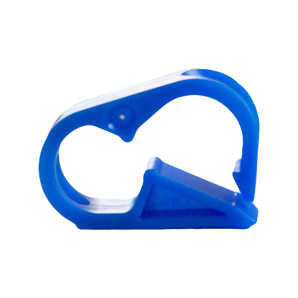 """Blue 12 Position Polyester Tubing Clamp for Tubing up to 0.75"""" OD"""