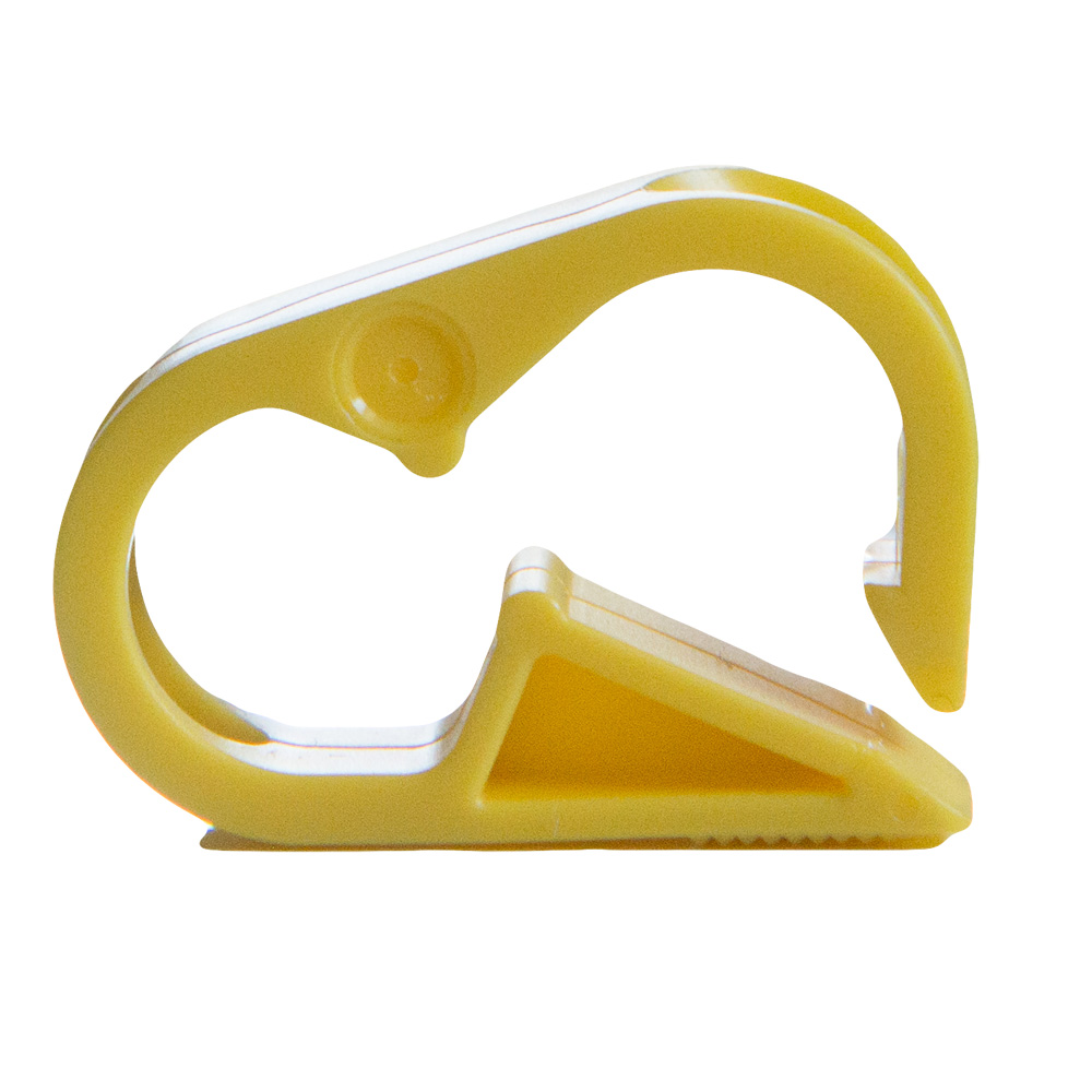 "Yellow Polypropylene Tubing Clamp for Tubing up to 0.25"" OD"