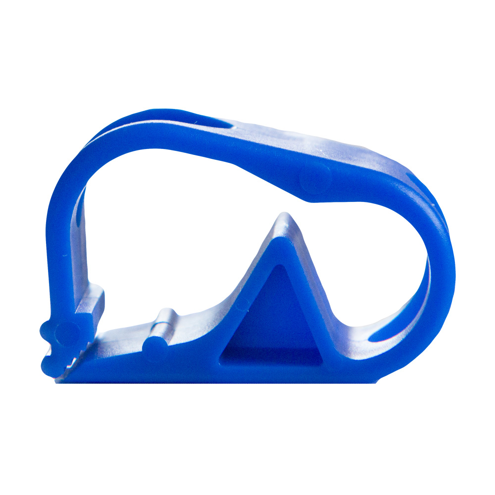 "Blue 1 Position Polypropylene Tubing Clamp for Tubing up to 0.50"" OD"