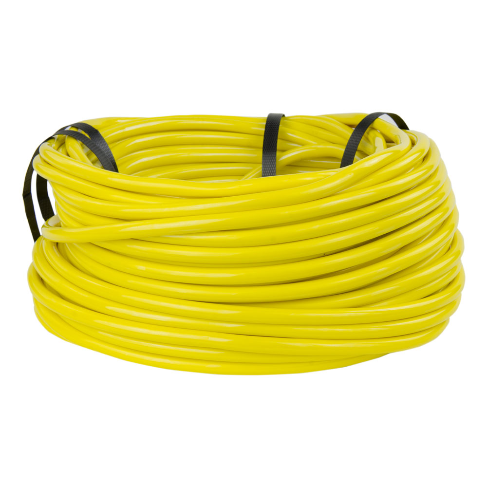 "3/8"" ID x 1/2"" OD x 1/16"" Wall Opaque Yellow PVC Tubing"