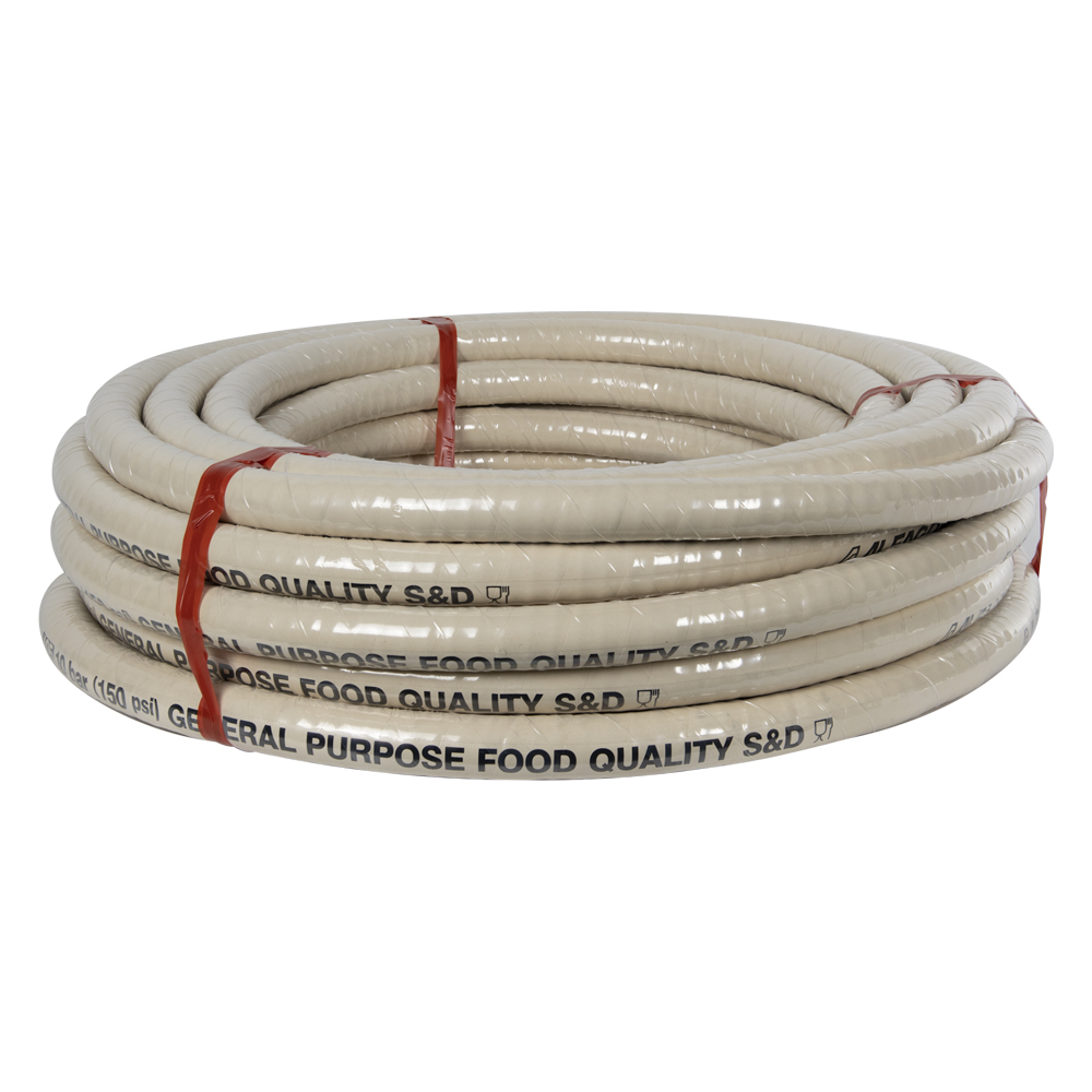 "3"" ID x 3.46"" OD Alfagomma® Liquid Food Suction & Discharge Hose"