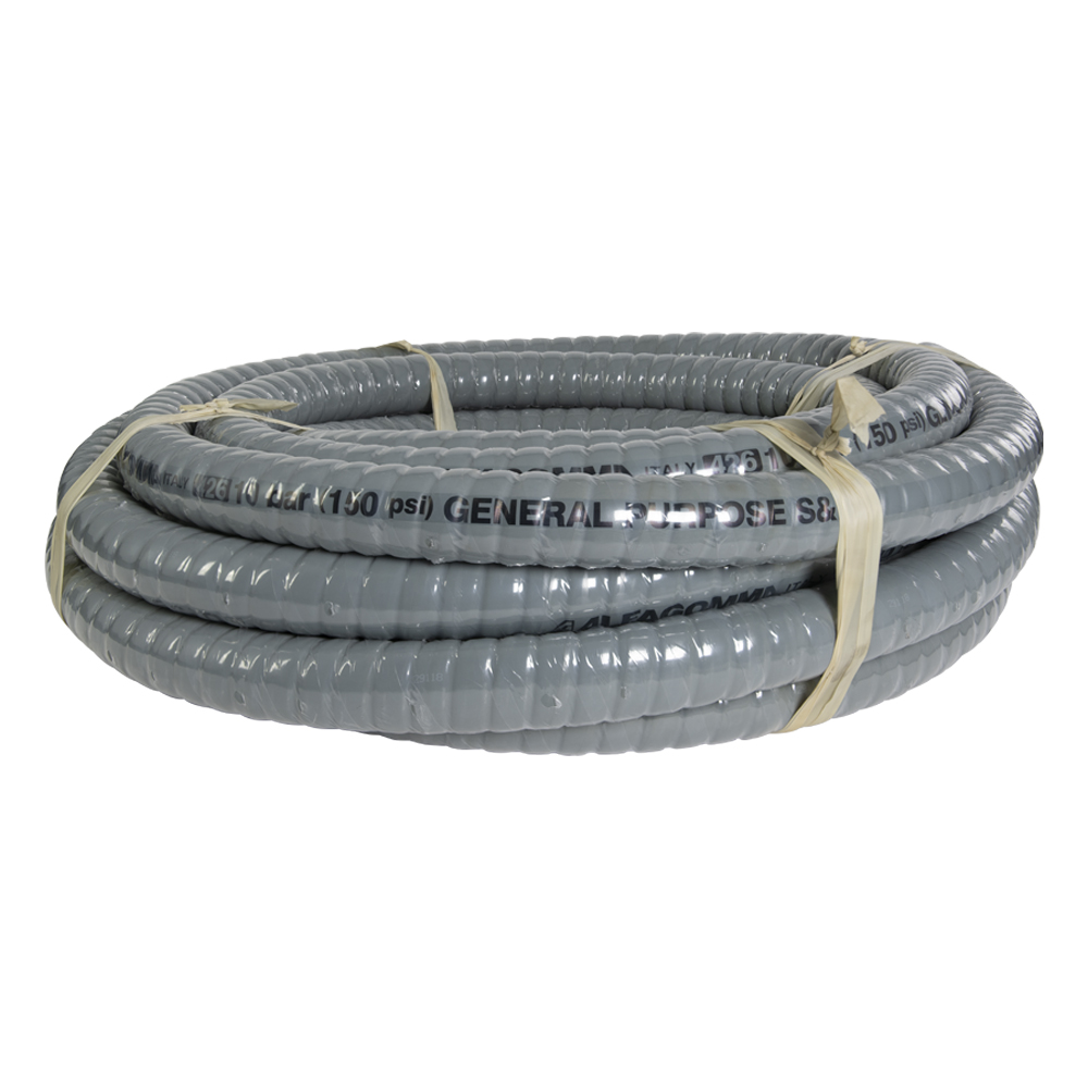 "4"" ID x 4.65"" OD Alfagomma® Corrugated, Liquid Food Suction & Discharge Hose"