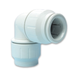 John Guest® Twist & Lock White PEX Union Elbow