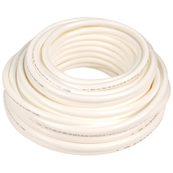 ".125"" ID x 1/4"" OD x .062"" Wall White Tamco® RT-55D LLDPE Tubing"