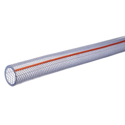 "1/4"" ID x 0.438"" OD PVC Kuri Tec® CLEARBRAID® Oil K3550 Series Hose"